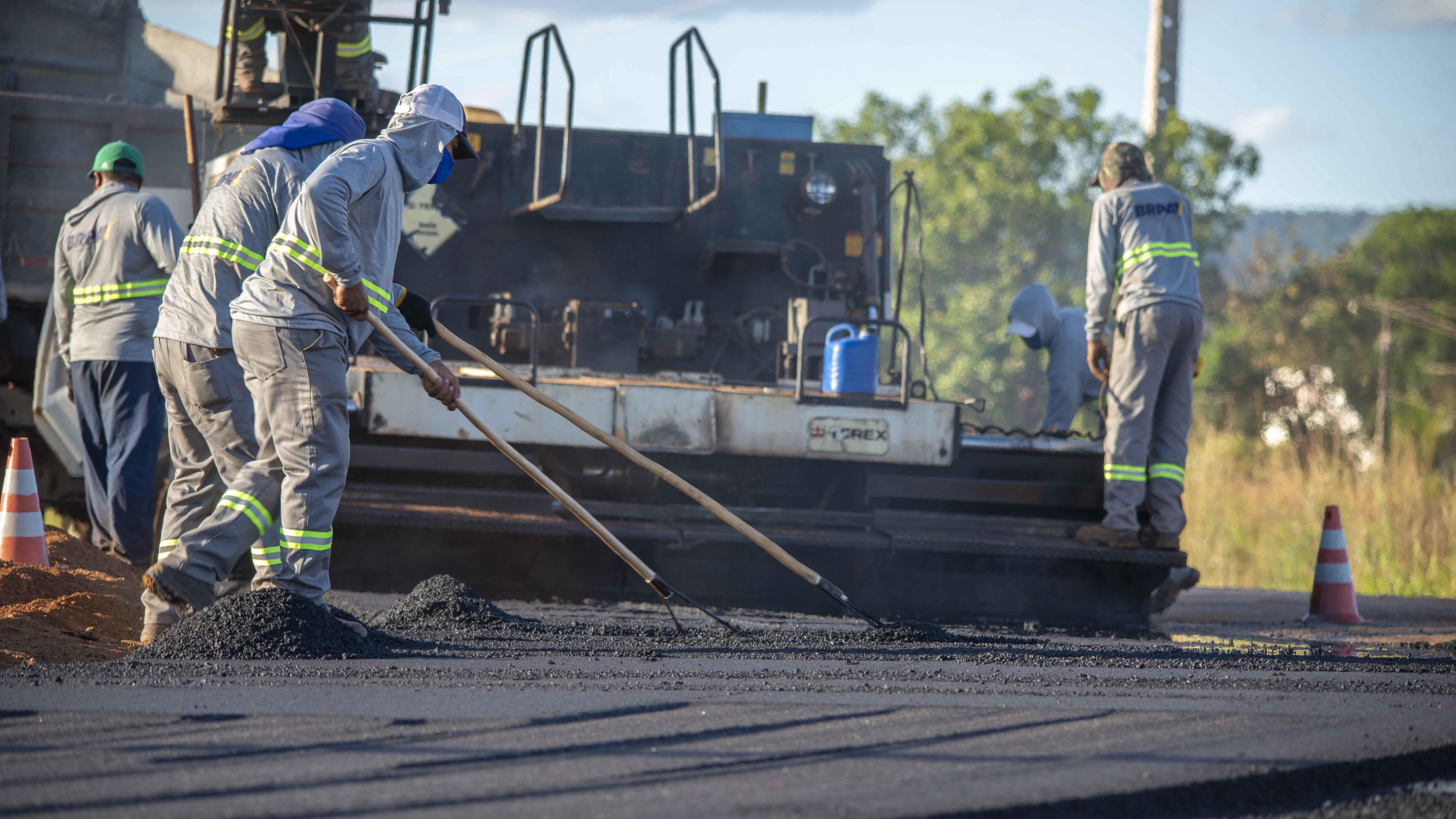 Obras viárias: confira programação de pavimentação para a Arne 64, LO-04 e Buritirana para esta semana